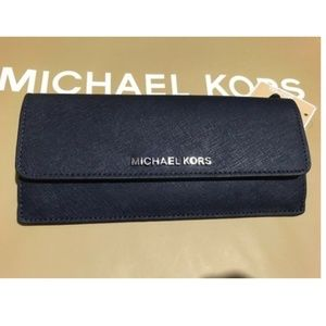 Michael Kors Travel Flat Saffiano Wallet Leather